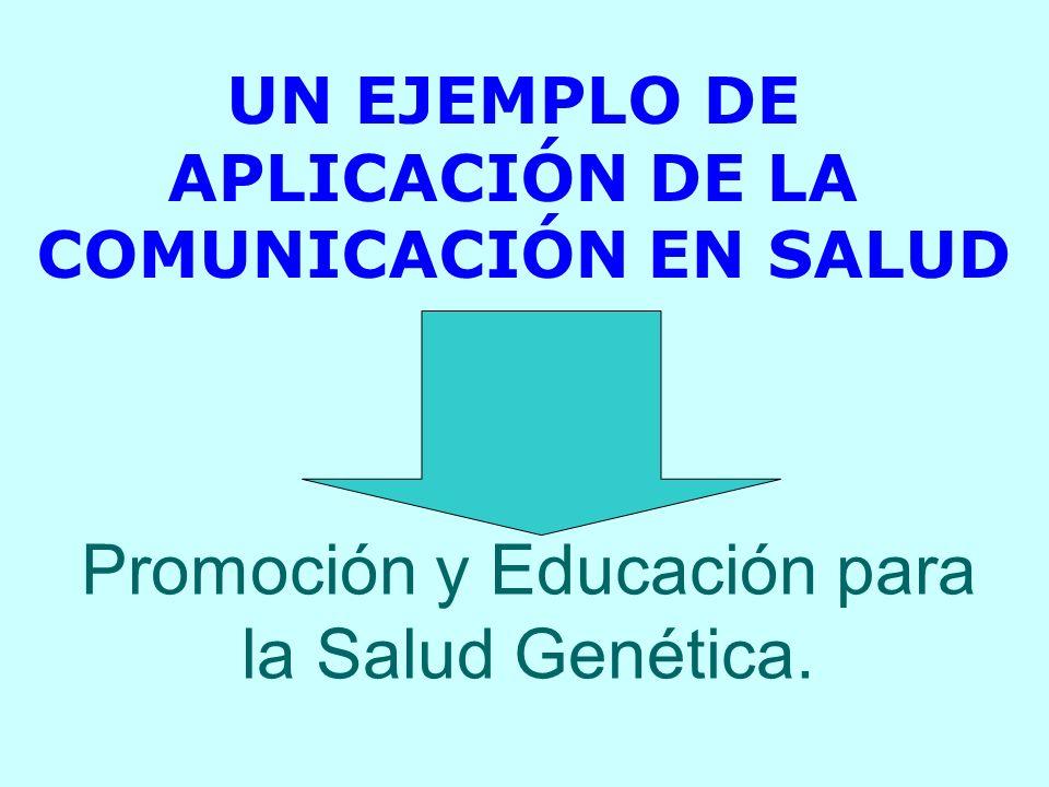 Promoción y Educación para la Salud Genética.