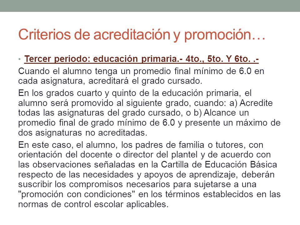 Criterios de acreditación y promoción…