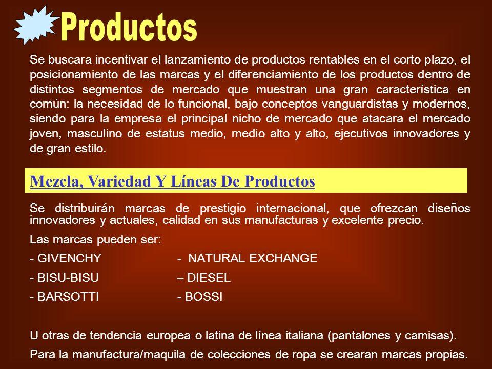 Productos Mezcla, Variedad Y Líneas De Productos