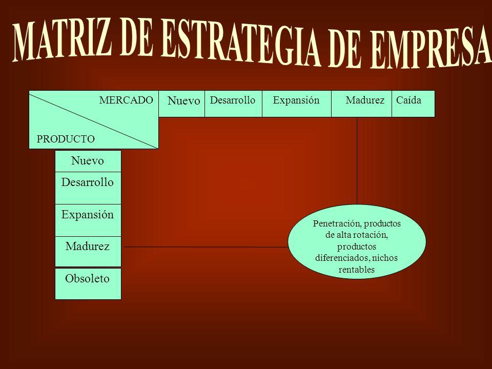 MATRIZ DE ESTRATEGIA DE EMPRESA