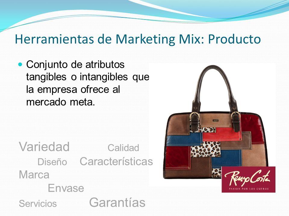 Herramientas de Marketing Mix: Producto