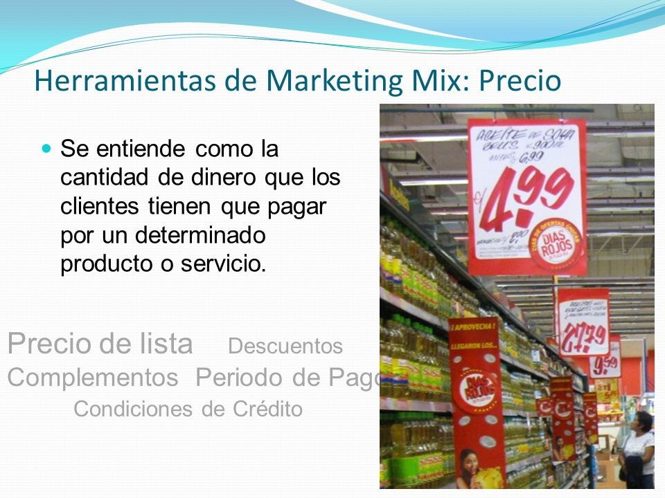 Herramientas de Marketing Mix: Precio