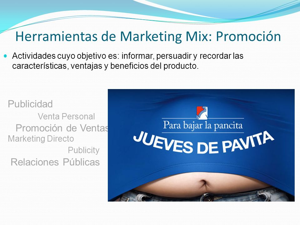 Herramientas de Marketing Mix: Promoción