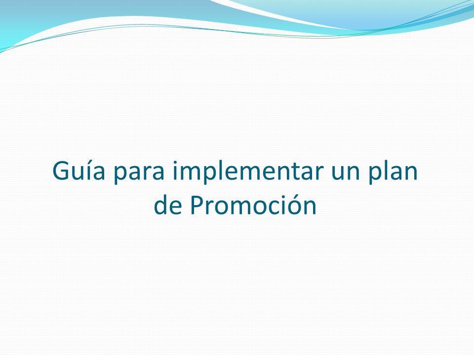 Guía para implementar un plan de Promoción