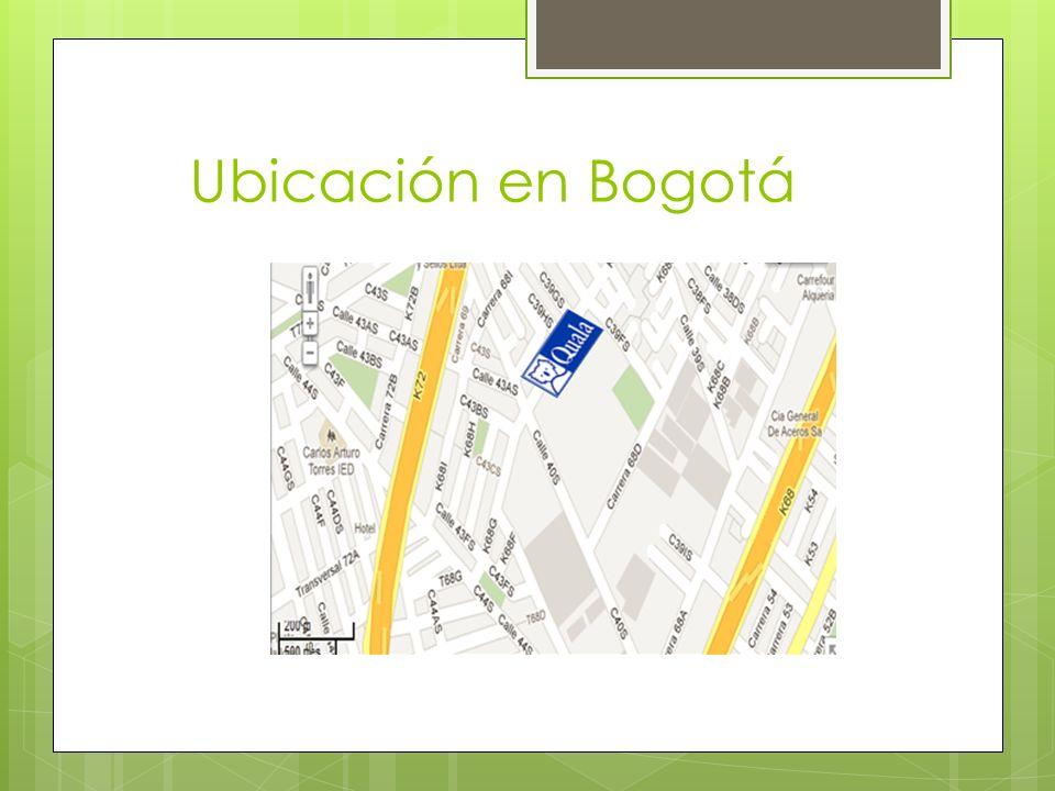Ubicación en Bogotá
