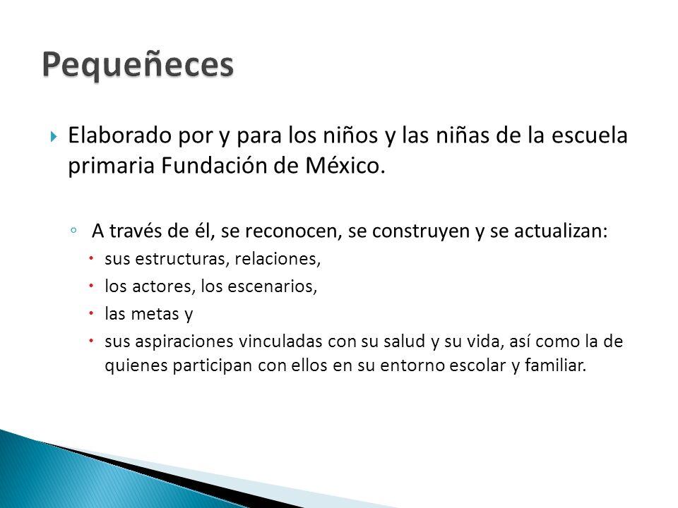 Pequeñeces Elaborado por y para los niños y las niñas de la escuela primaria Fundación de México.