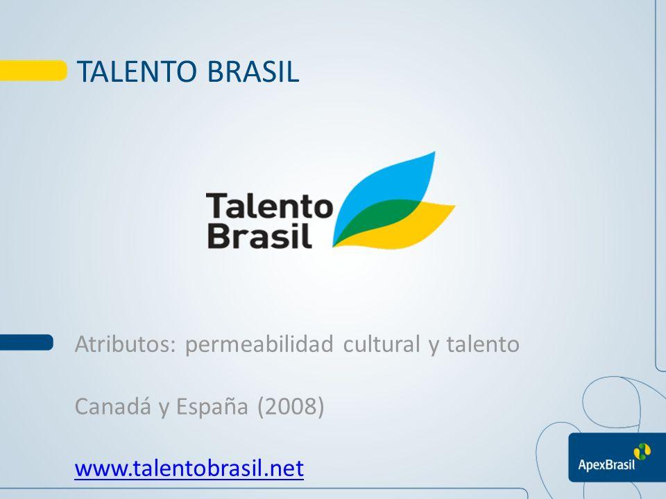 TALENTO BRASIL Atributos: permeabilidad cultural y talento