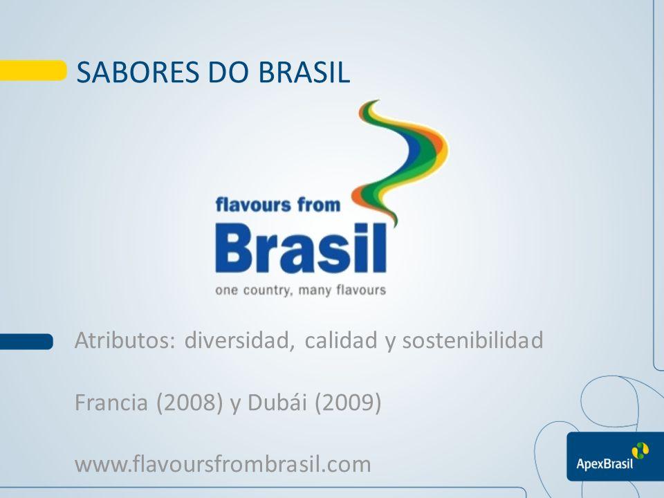 SABORES DO BRASIL Atributos: diversidad, calidad y sostenibilidad