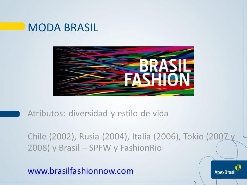 MODA BRASIL Atributos: diversidad y estilo de vida