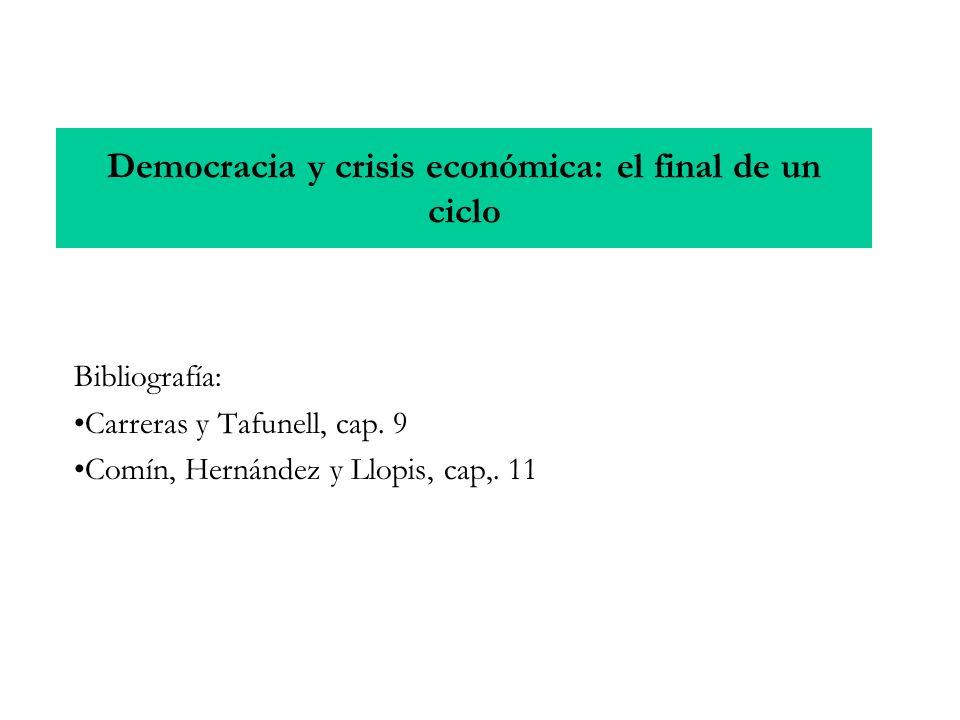 Democracia y crisis económica: el final de un ciclo