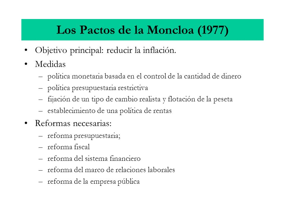 Los Pactos de la Moncloa (1977)