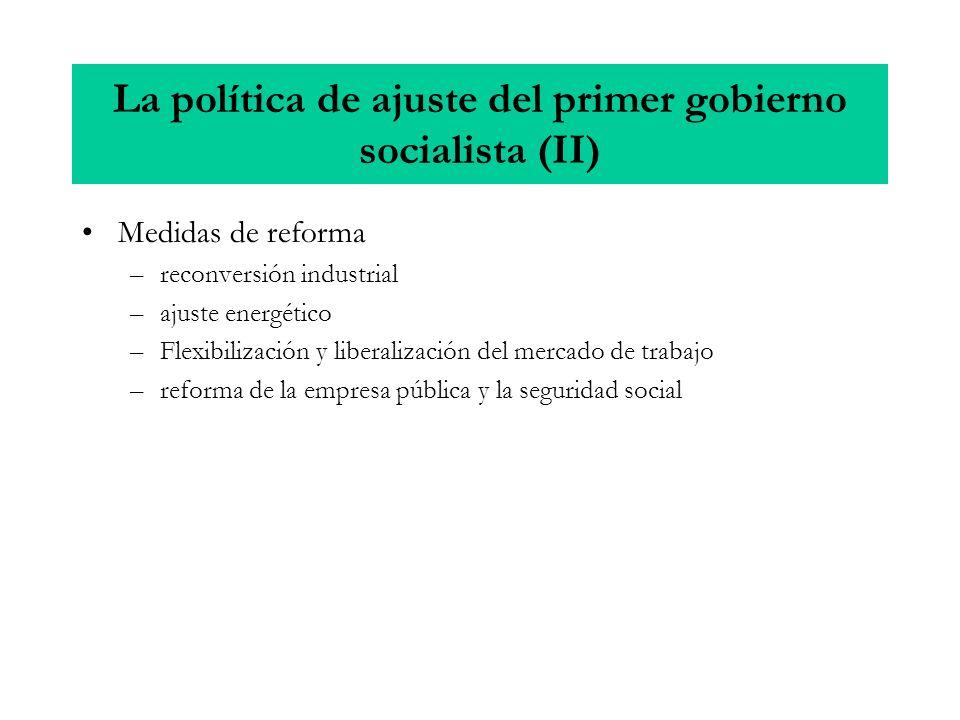 La política de ajuste del primer gobierno socialista (II)
