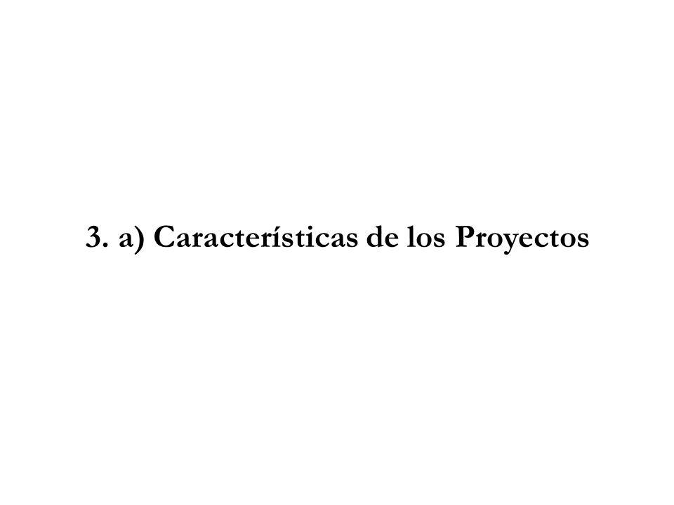3. a) Características de los Proyectos