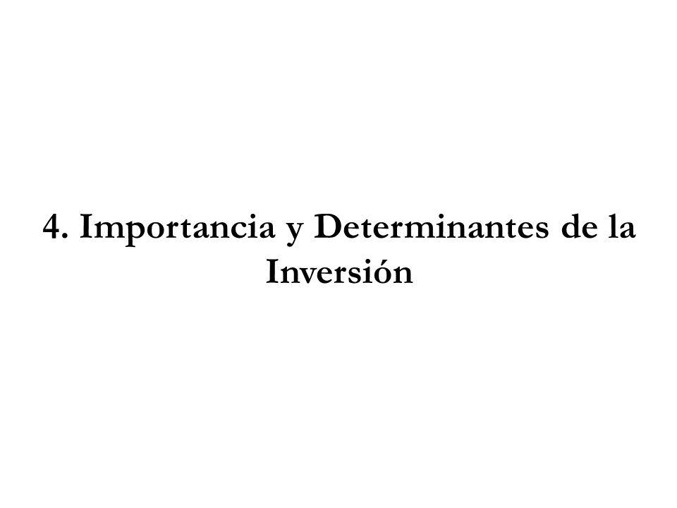 4. Importancia y Determinantes de la Inversión