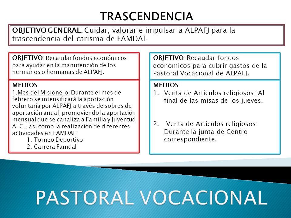 PASTORAL VOCACIONAL TRASCENDENCIA