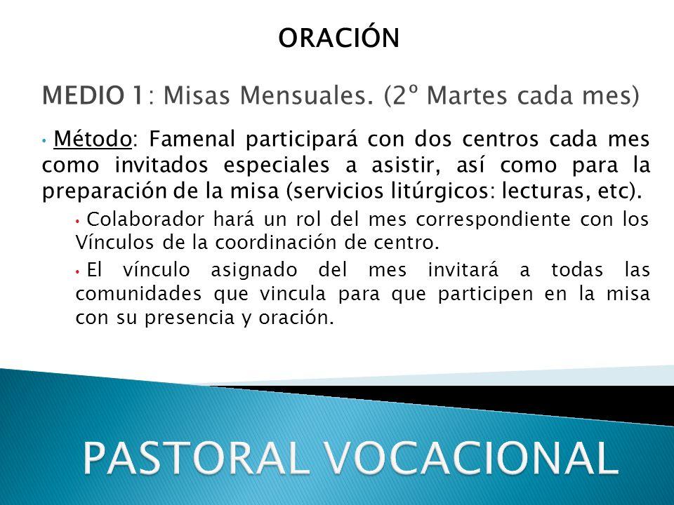 PASTORAL VOCACIONAL ORACIÓN