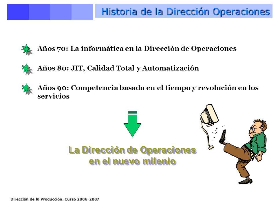 Historia de la Dirección Operaciones