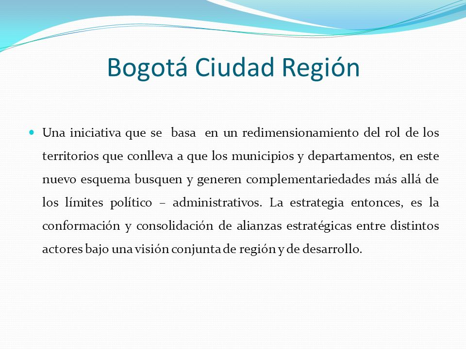 Bogotá Ciudad Región
