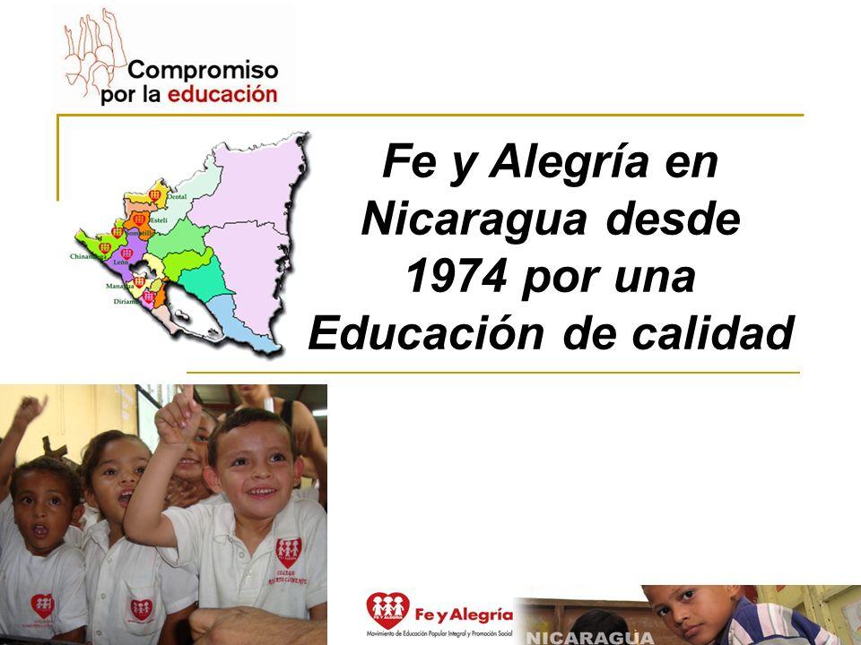 Fe y Alegría en Nicaragua desde 1974 por una Educación de calidad