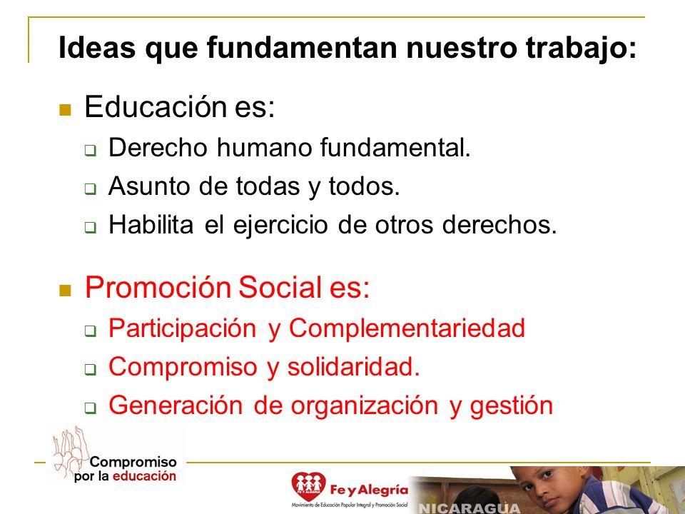Ideas que fundamentan nuestro trabajo: Educación es: