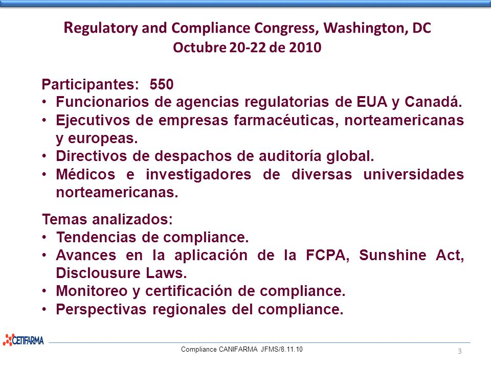 Regulatory and Compliance Congress, Washington, DC