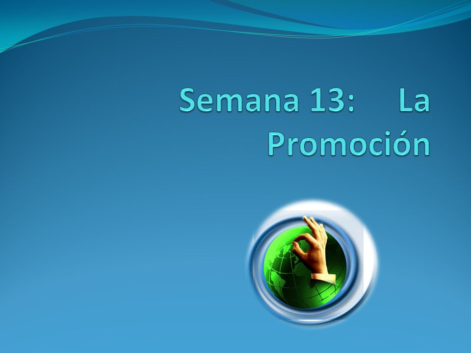 Semana 13: La Promoción