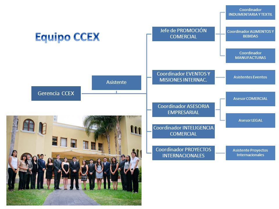 Equipo CCEX Gerencia CCEX Jefe de PROMOCIÓN COMERCIAL