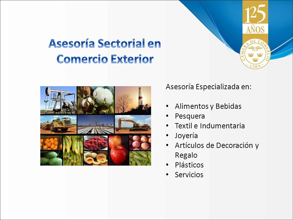 Asesoría Sectorial en Comercio Exterior