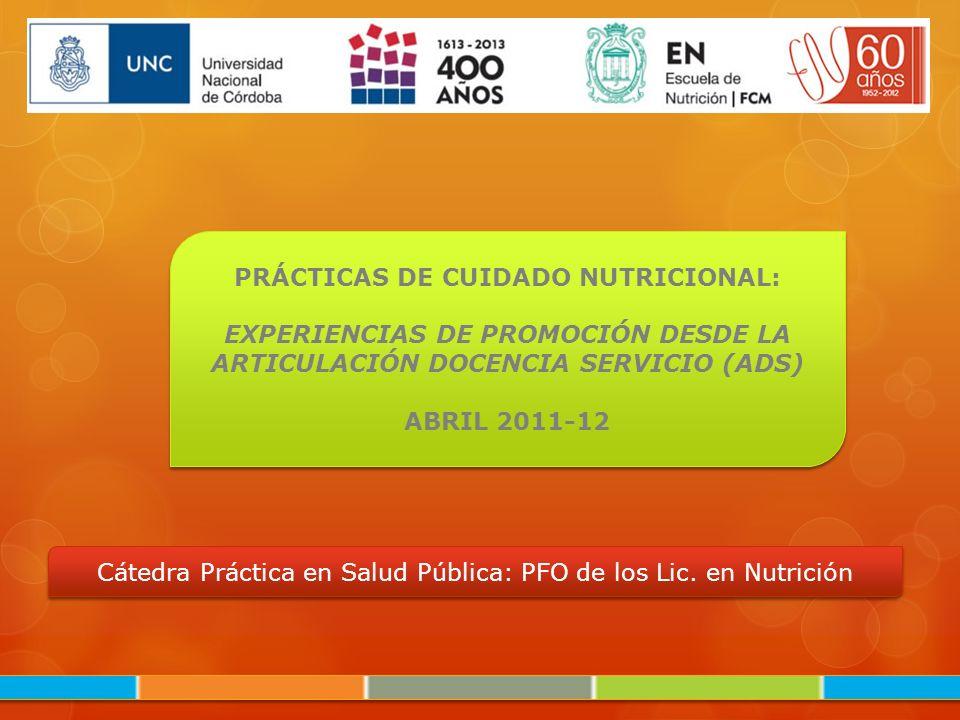 PRÁCTICAS DE CUIDADO NUTRICIONAL: