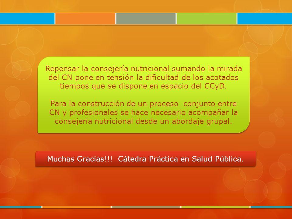 Muchas Gracias!!! Cátedra Práctica en Salud Pública.