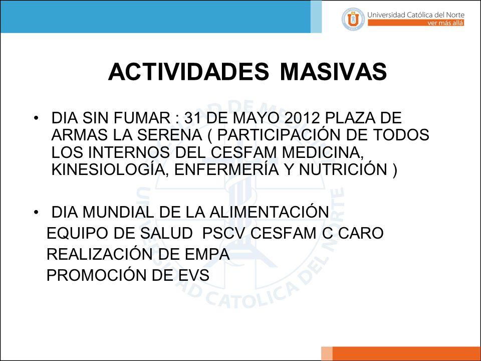 ACTIVIDADES MASIVAS