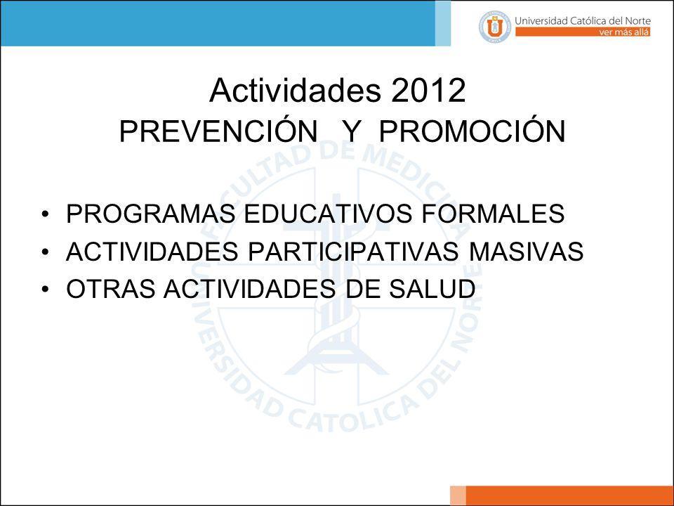Actividades 2012 PREVENCIÓN Y PROMOCIÓN