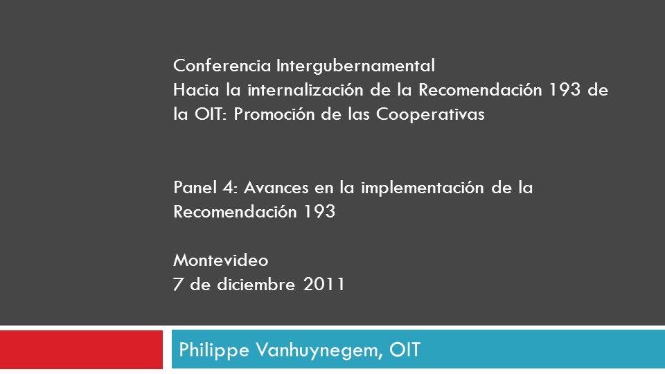 Philippe Vanhuynegem, OIT