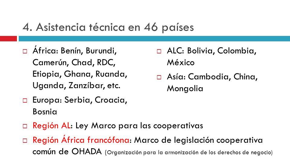 4. Asistencia técnica en 46 países