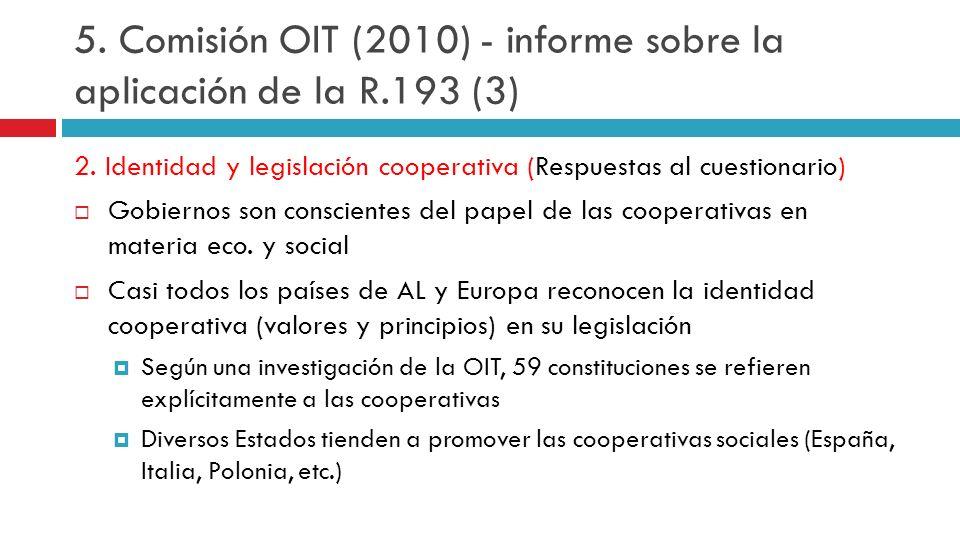 5. Comisión OIT (2010) - informe sobre la aplicación de la R.193 (3)