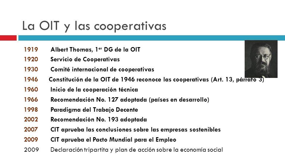 La OIT y las cooperativas