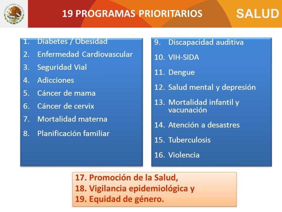 19 PROGRAMAS PRIORITARIOS