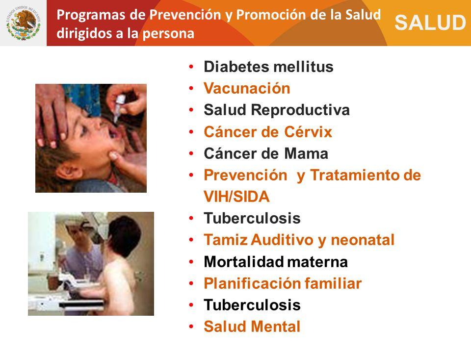 Programas de Prevención y Promoción de la Salud dirigidos a la persona