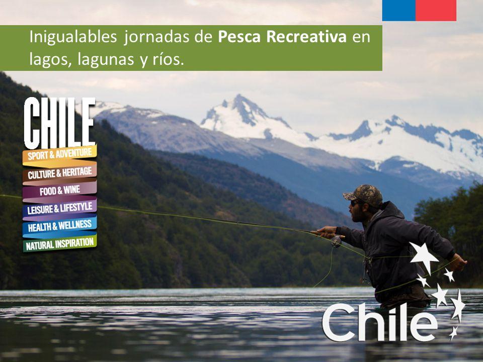 Inigualables jornadas de Pesca Recreativa en lagos, lagunas y ríos.
