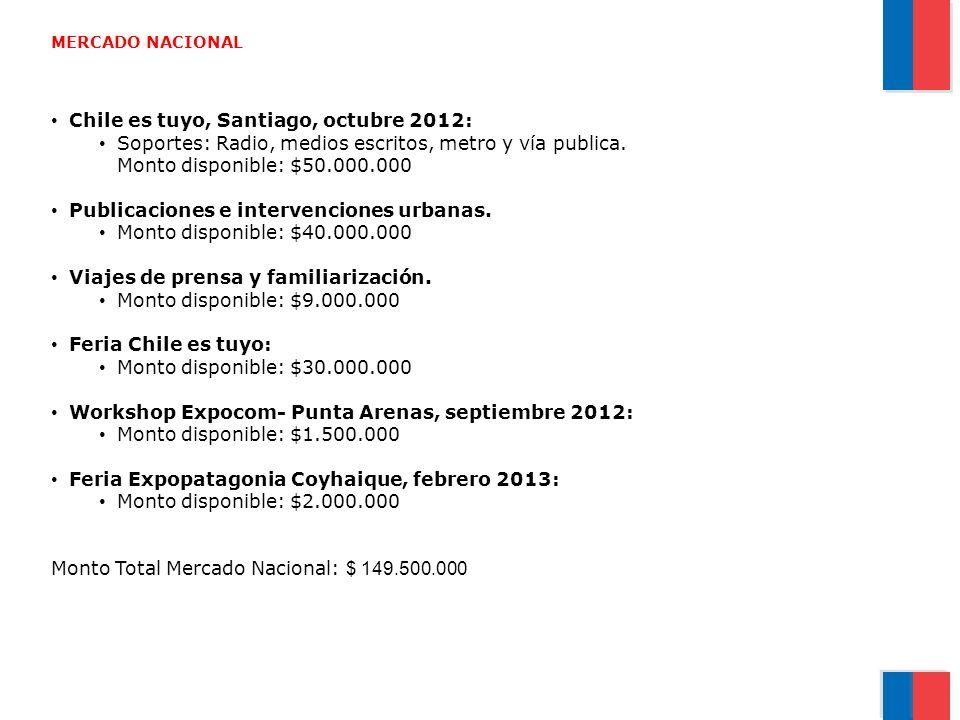 Chile es tuyo, Santiago, octubre 2012: