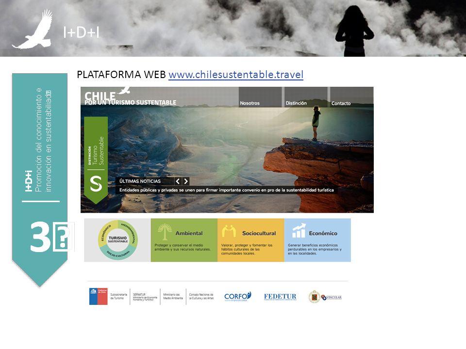 I+D+I PLATAFORMA WEB www.chilesustentable.travel
