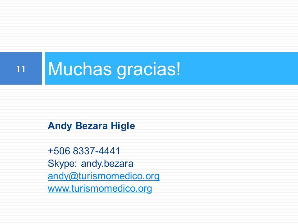 Muchas gracias! Andy Bezara Higle +506 8337-4441 Skype: andy.bezara