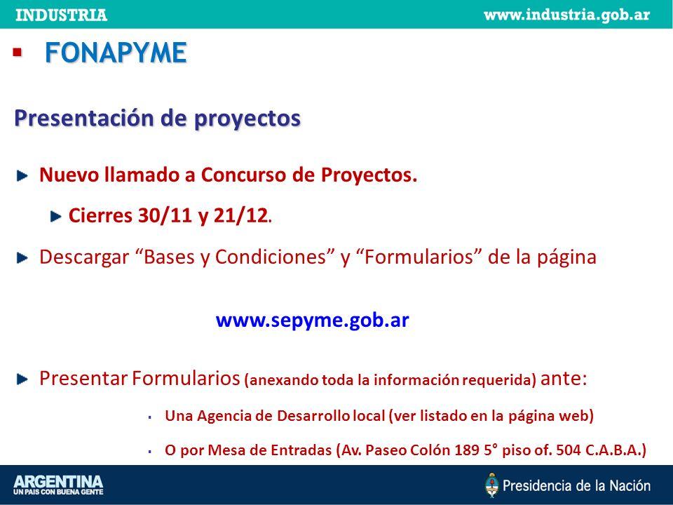 FONAPYME Presentación de proyectos