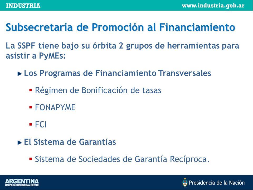 Subsecretaría de Promoción al Financiamiento