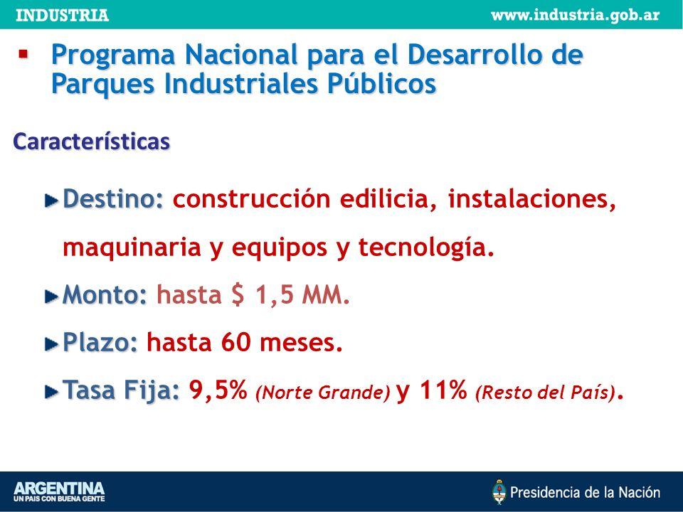 Programa Nacional para el Desarrollo de Parques Industriales Públicos