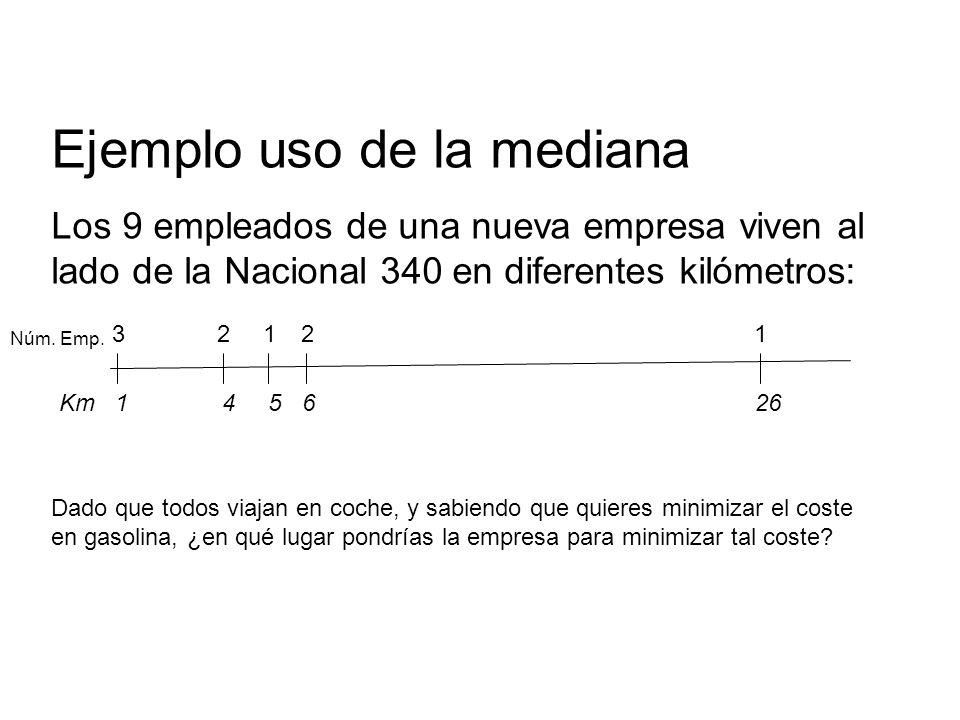 Ejemplo uso de la mediana