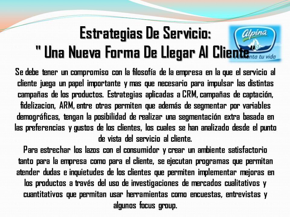 Estrategias De Servicio: Una Nueva Forma De Llegar Al Cliente
