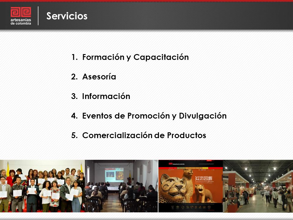 Servicios Formación y Capacitación Asesoría Información