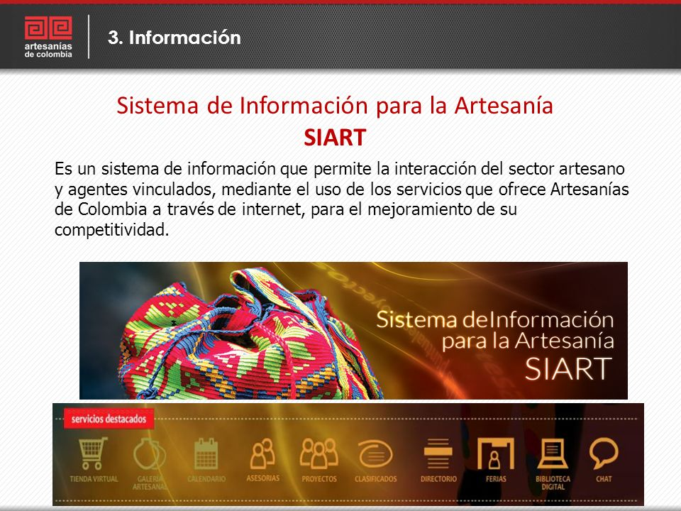 Sistema de Información para la Artesanía