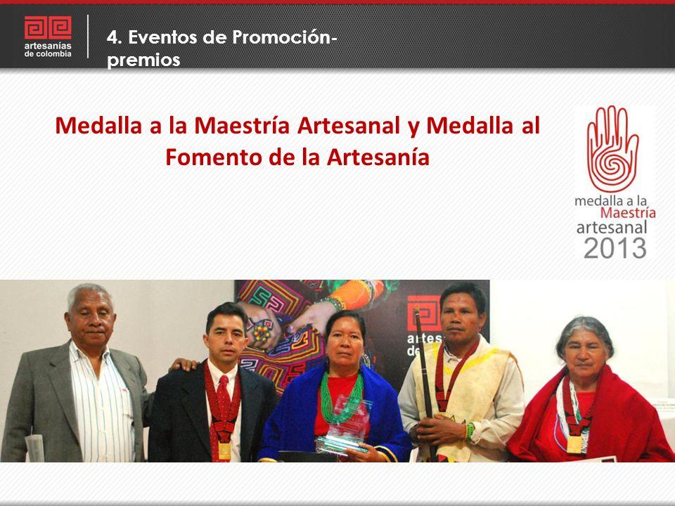 Medalla a la Maestría Artesanal y Medalla al Fomento de la Artesanía